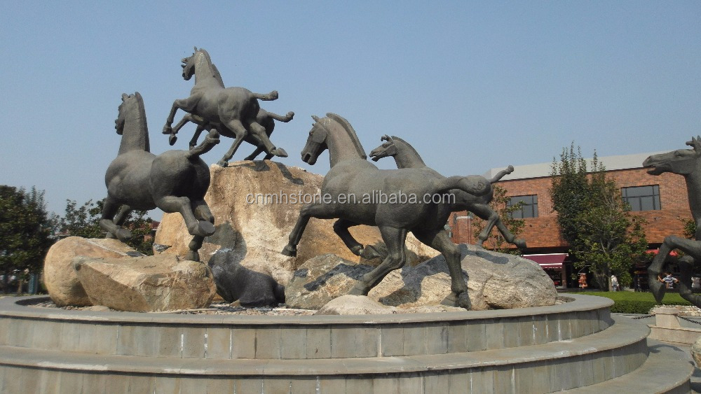 Outdoor Horse Stone Carving and Sculpture for Sale