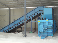 Hot sale horizontal semi automatic waste paper baler