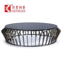 prefab/modualr coffee tablehouse stainless steel coffee table stainless tube based with lowest price