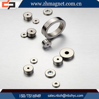 small radially ferrite magnets with ring for sale
