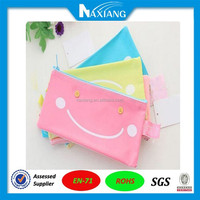 Hot Cartoon Smile PVC Pen Mesh Pouch Bag Pencil Case