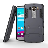 Slim armor case waterproof shockproof cell phone case wholesale for Hybrid kickstand Armor case #1 for LG V10 F600