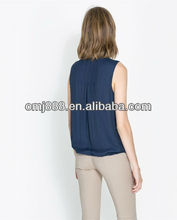 2013 Fashion Elegant Rayon Ladies Top Latest Design