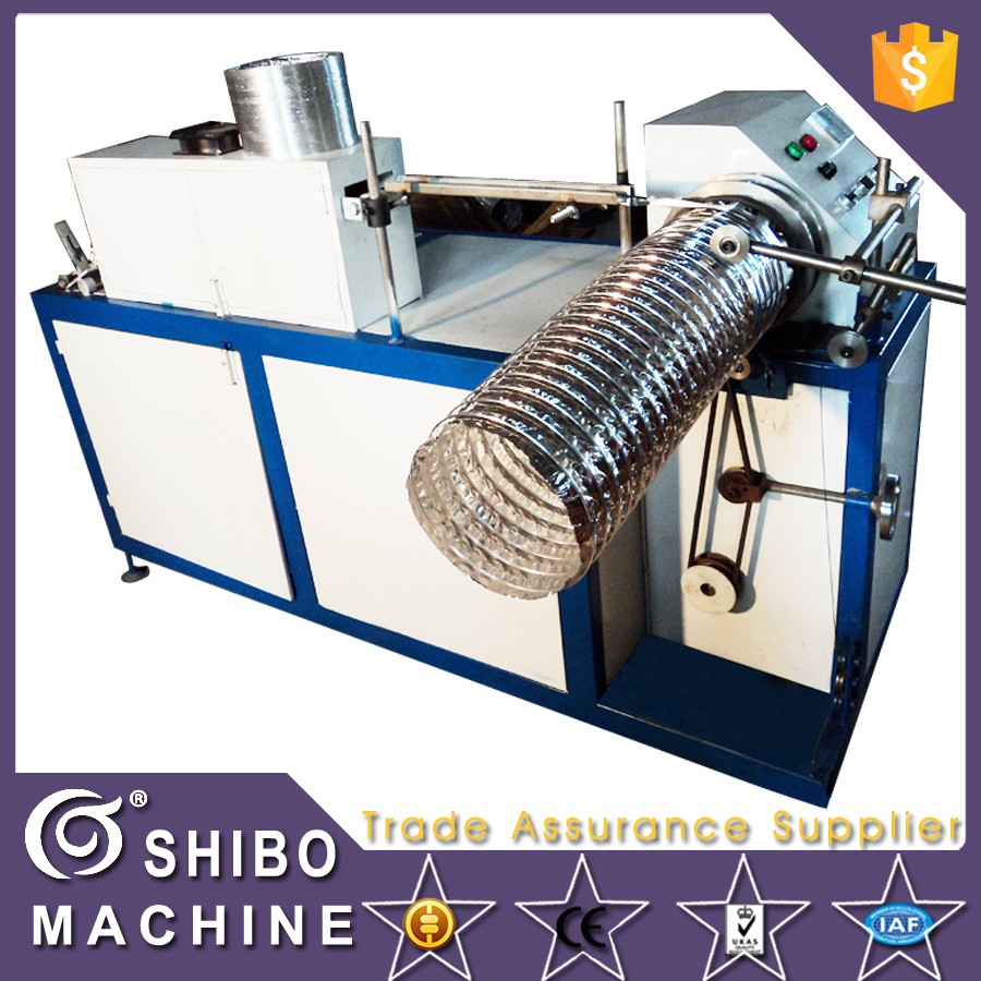 Aluminium flexible duct making machine
