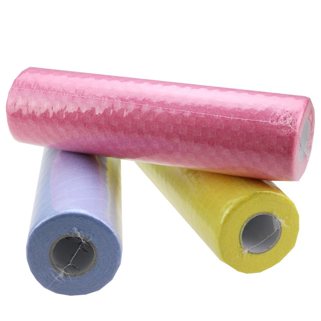 Needle punched non woven absorbant fabric of dusting cloth rolls and household cleaning dry wipes cloth