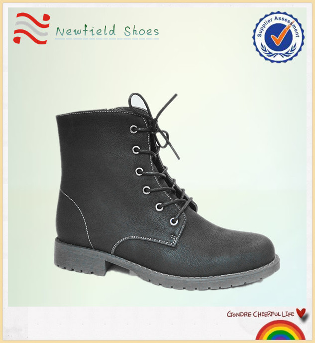 Wholesale black patent leather military boots
