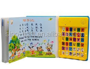 Hot Sales Children Sounds Book High Quality 18 Push Sound Buttons Book For Kids Fash Design Sound Of Music Set Design