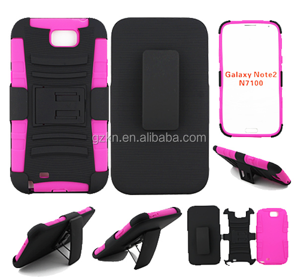Belt clip shockproof defender case for Samsung Galaxy Note 2 N7100