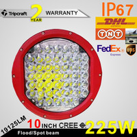 Hot sale high power Car Accessories 10inch Round offroad 10inch led work light 225w led driving lights super bright