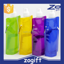 ZOGIFT Newest 480ml Reusable Foldable Sport&Outdoor Water Drinking Plastic Bag Portable Folding Water Bottle