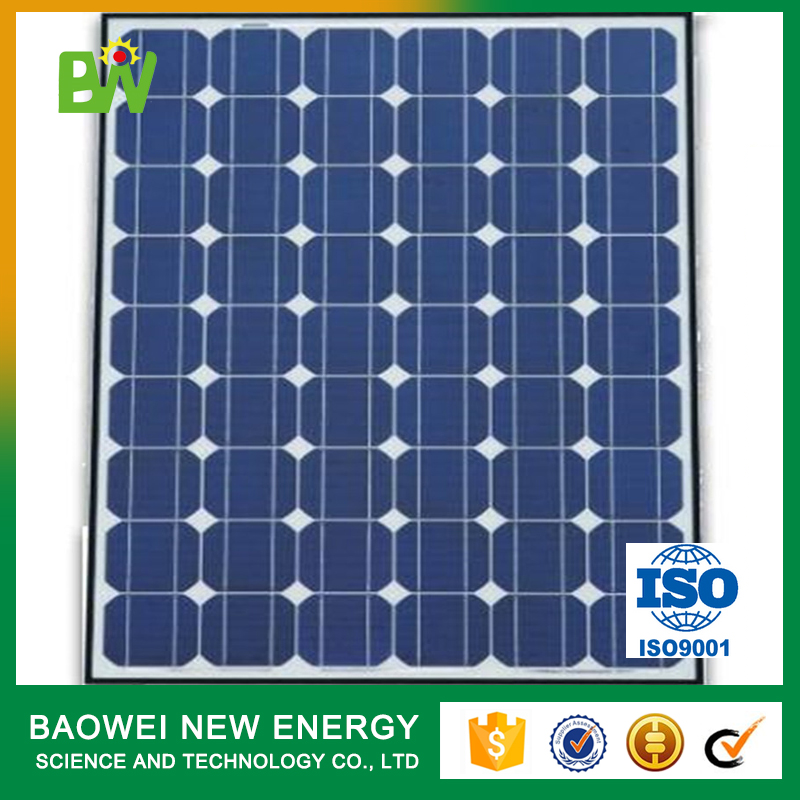monocrystalline 50w power photovoltaic solar panel on off grid system
