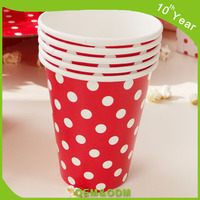 8oz disposable printed single wall coffee paper cup