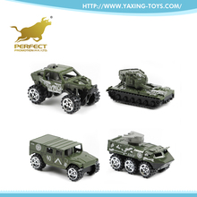 Wholesale small metal military car toy 1 64 scale diecast trucks for kids
