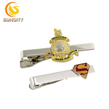Excellent Quality Custom Logo Tie Clip For Mens Fashion Gift Silver or Gold Plated Tie Clip