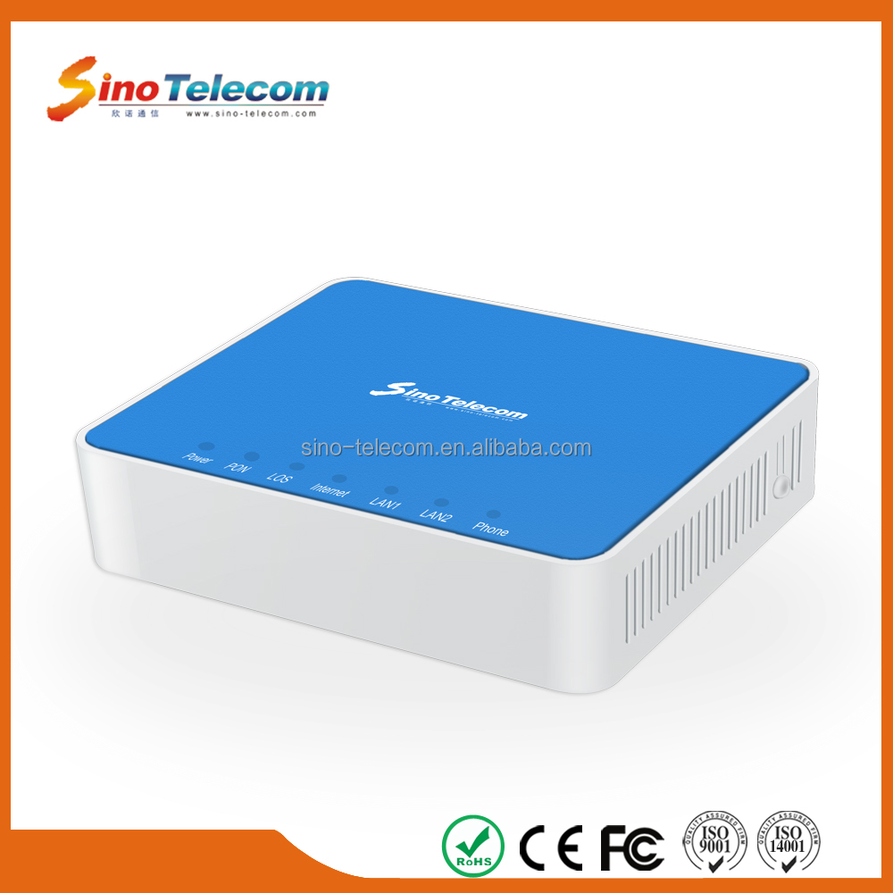 Sino-Telecom 1 Gigabit Ethernet FTTH Optical Fiber GPON ONT Modem Providing OEM