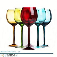 Sanzo Handmade Glassware Manufacturer electroplating long wine glass cup
