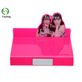 High Quality Pink Color Acrylic Cosmetic Display Stand