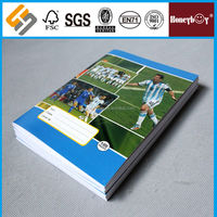 Messi football star design exercise book english