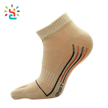 Selling like crazy Running Five Finger hand socks premium pop Sports cycling Stretchy medias Stocking Beige socks