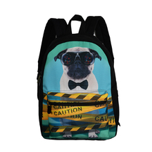 New design lovely dog print daypack high quality brand student backpack back school bag