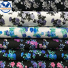2017 fashion design flower printed pattern synthetic leather (504-02B075)