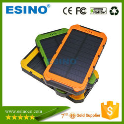10000 mah Solar Charger and Battery 10000mAh Solar Panel Dual Charging Ports portable power bank for All Cell Phone