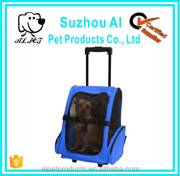 Oxford Pet Carrier Rolling Travel Airline Wheel Luggage Bag Dog Backpack