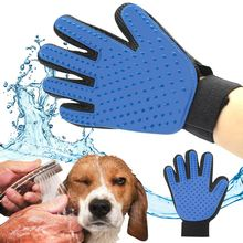 Pet Dog Cat Brush Glove Mitt Deshedding Glove for Gentle Pet Grooming Massage Bathing Brush Comb For Long and Short Hair