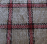 tartan plaid flannel coral fleece fabric for baby blanket garments