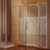 Royal Style shower and toilet cabin with golden color and crystal diamond