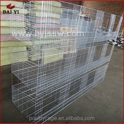 Assemble Easily Metal Large 3 Level Rabbit Cage(H type ,alibaba supplier,Made in China)
