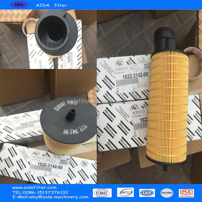 Air Filter Type spare part for air compressor atlas copco 1621875000