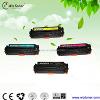 Remanufactured cb530a,cb531a,cb532a,cb533a color toner cartridges for HP printers