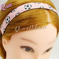 adjustble elastic light pink stretch sports headbands for girls