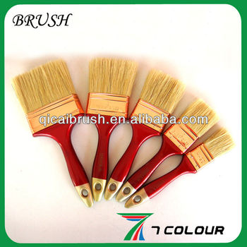White bristle coppering ferrule paint brush set