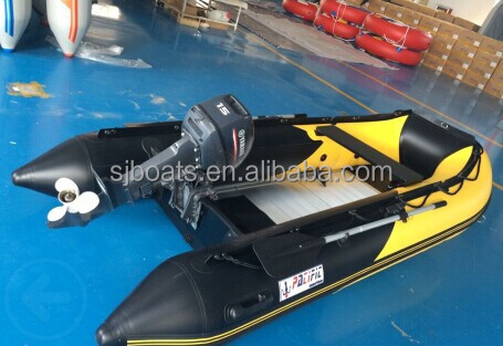 SANJ inflatable fishing boat with aluminium floor