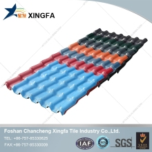ASA coated plastic spanish tile price roof material portuguese tiles/rigid pvc sheet manufacturers chinese
