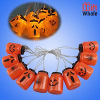 Halloween Pumpkin Grimace LED String Lights
