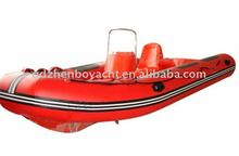 (CE)pvc material rigid double hull fiberglass inflatable boat