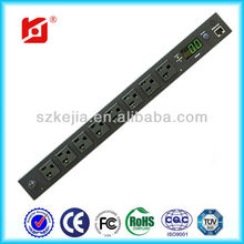 8 Outlets NEMA 5-15R / Remote Current Monitoring/Remote Power Managed Intelligent PDU