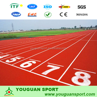 playground IAAF high quality PU running tracks,athletic track surface tartan track