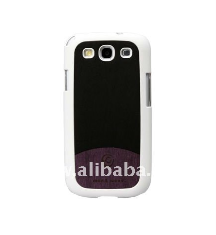 Deep purple Wood Smart phone case for GALAXY S3 4G