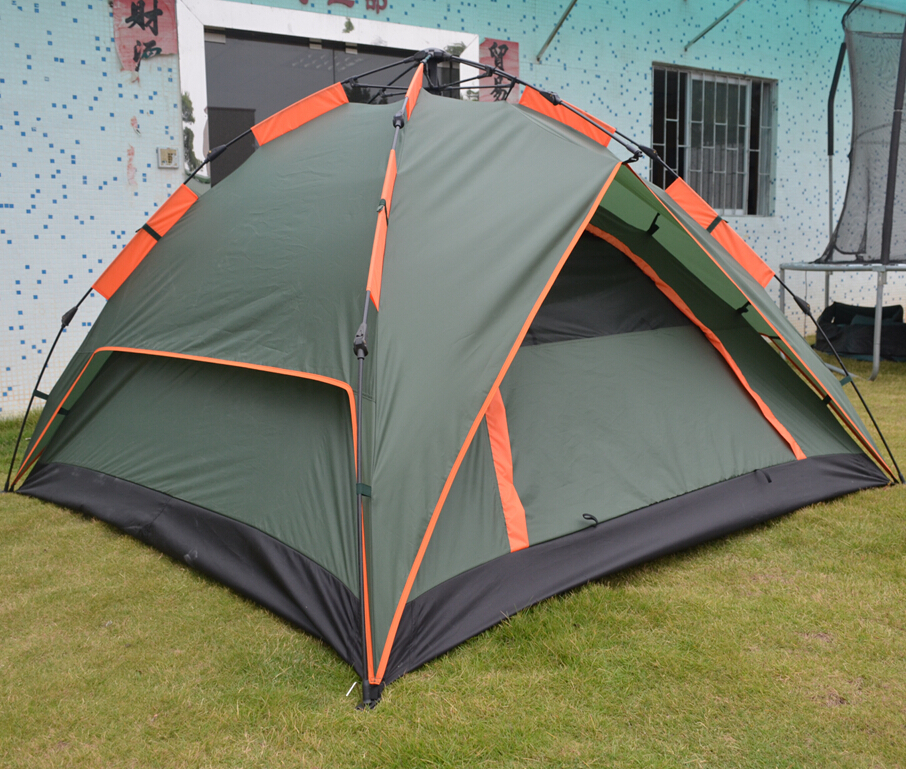 Double-layer PU 2000mm coated outdoor camping beach tent