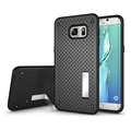 Premium TPU+PC Hybrid Slim Net Stand Back Cover Phone Case for Samsung Galaxy S6 Edge Plus