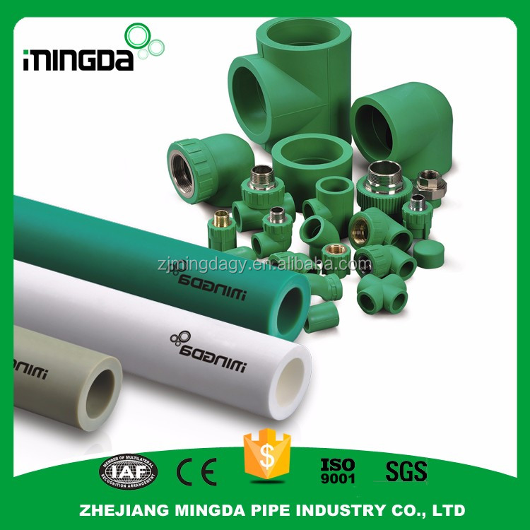 wholesale ppr hot water pipe gray pprc pipe 8078 200mm plastic ppr pipe