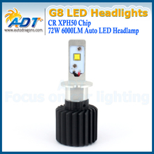 New arrival universal car fog lights bulb led automotive headlight h3 g8 6000lm