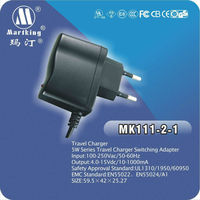 AC 120-240V travel charger, best selling AC adapter