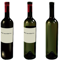 glass wine bottles with cap supplier