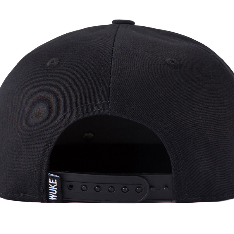 Fashion Snapback Caps 100% Cotton Twill 5 Panel Flat Brim Men Women Bones Hip Hop Black Snapback Hats