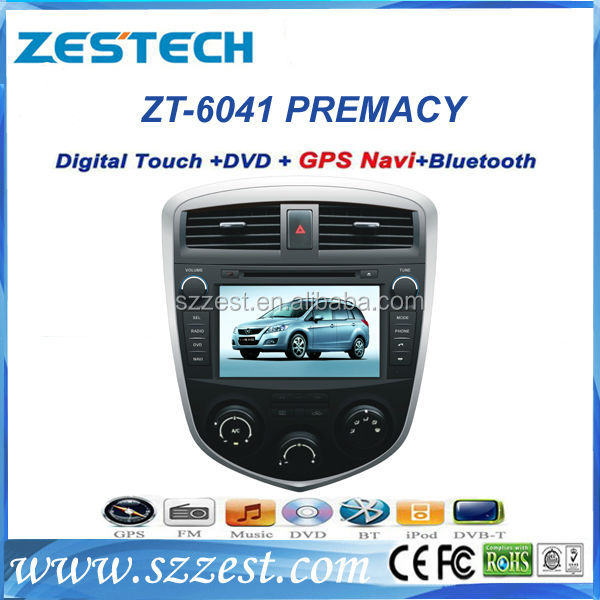Zestech Hot dual core Car Stereo Navigation Satnav GPS auto parts dvd player for MAZDA PREMACY